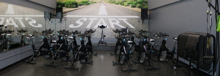 room of spin bikes