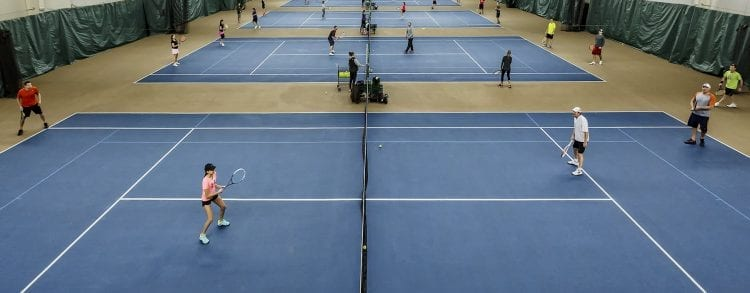 5 tennis courts