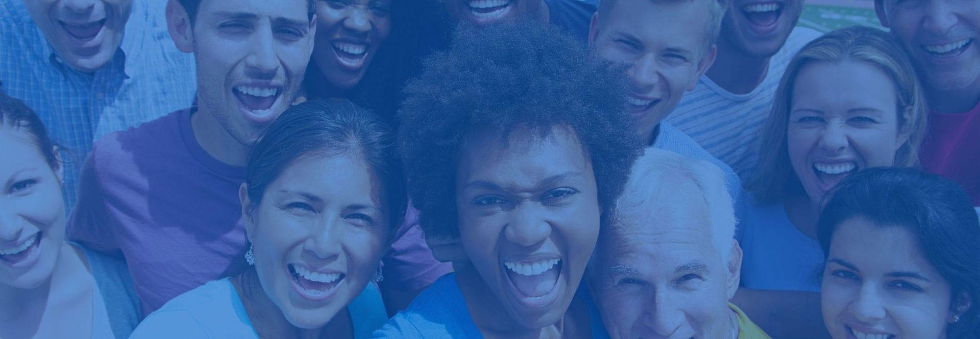group of people smiling - Edwardsville YMCA