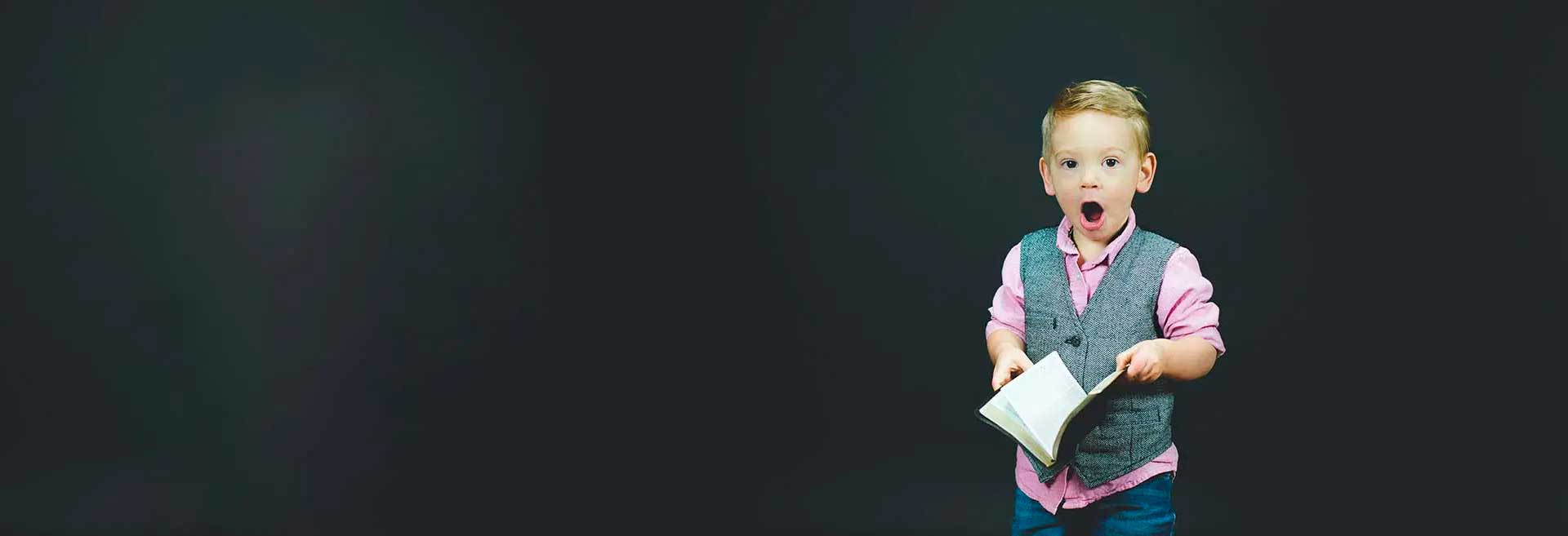 Boy with book - No Joining Fee End Of Year